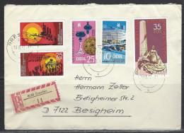 DDR - RECO-Beleg Mi-Nr. 2250 + 2251 + 2259 + 2260 + 2262 - [6] Democratic Republic