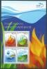 Greece 2013 Elements Of Nature Earth, Water, Air, Fire Sheetlet MNH - Blocks & Kleinbögen