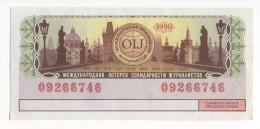 1990 Soviet Union USSR Russia Russian Federation RSFSR OIJ 150x70mm International Lottery Of Solidarity Of Journalists - Lotterielose