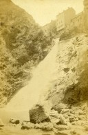 France Pyrenees Eaux Bonnes Cascade Valentin Ancienne CDV Photo Jules Andrieu 1865