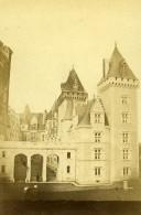 France Pau Le Chateau Architecture Ancienne CDV Photo Pacault 1865