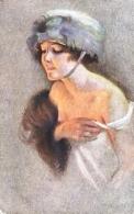 """Suzanne Meunier  -  Young Lady In Fashionable Head Wear : """"Minois De Parisiennes"""" - Meunier, S."""