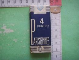 9 ) Collector : Paquet  Intact 4 Cigarettes :  Parisiennes   ( Dit P 4 )  Tabac Impropre à La Consomation - Porta Sigarette (vuoti)