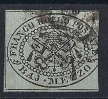 1852 1/2 Baj Usato - Papal States