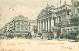 BRUXELLES - Boulevard Anspach - La Bourse - Lanen, Boulevards