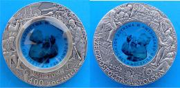 POLONIA 10 Z 2008 ARGENTO+VETRO ANTICA FINITURA 400 ANNI JAMESTOWN VIRGINIA PESO 14,14g. TITOLO 0,925 CONSERVAZIONE FDC - Polonia