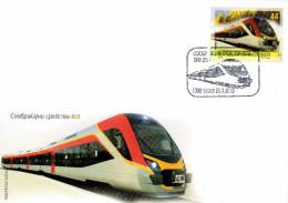 Macedonia / FDC / MEANS OF TRANSPORTATION - Train - Macedonia
