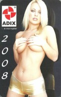 EROTIC SEXY NUDE NAKED WOMAN GIRL DEBRECEN BUDAPEST MISKOLC NYIREGYHAZA TISZAUJVAROS CALENDAR Adix-Trade 2008 * Hungary - Calendriers