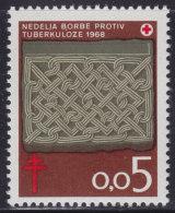 Yugoslavia, 1968, Anti-tuberculoses, Surcharge (72), MNH (**) - 1945-1992 République Fédérative Populaire De Yougoslavie