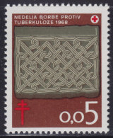 Yugoslavia, 1968, Anti-tuberculoses, Surcharge (72), MNH (**) - 1945-1992 Socialist Federal Republic Of Yugoslavia