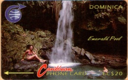 Dominica - GPT, C&W, 3CDMB, Emerald Pool, 20 EC$, 1990, Used As Scan