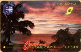 Grenada - GPT, C&W, 3CGRB, Sunset, 40 EC$, 1991, Used As Scan