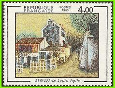 France 1983 2297 ** Peintures Maurice Utrillo Le Lapin Agile - Frankrijk