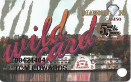 Diamond Jo Casino Dubuque, IA - Slot Card - 55 & More Sticker - Casino Cards