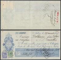AB897 Reçu Moulins A Cylindres De Arlon à Bruxelles 1897 25+5Cent - Belgique