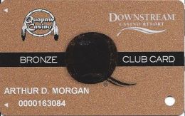 Downstream & Quapaw Casinos Quapaw, OK - 6th Issue Slot Card - Small Q - PG Over Mag Stripe - Casino Cards