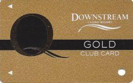 Downstream Casino Quapaw, OK - 1st Issue Gold Slot Card  (BLANK) - Casino Cards