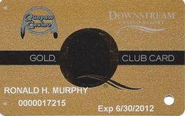 Downstream & Quapaw Casinos Quapaw, OK - 7th Issue Gold Slot Card - Lg Q With Reg Mark Underneath - Casino Cards