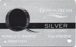 Downstream Casino Quapaw, OK - 1st Issue Silver Slot Card - Lg Q To Left - Casino Cards
