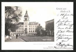 AK Halle / Saale, Blick Zum Haupt-Postamt - Zonder Classificatie