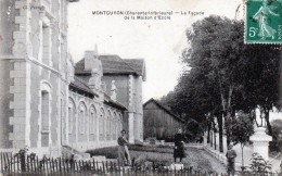 17 Montguyon Façade De La Maison D'école 1918 - France