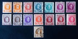 ALBERT 1ER  1927 - TYPE HOUYOUX - NEUFS*/OBLITERES - YT 190 + 192/96 + 198/99 + 201/02 - 1922-1927 Houyoux