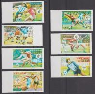 VIET NAM 1990  IMPERF./ NON DENT  FOOTBALL ITALY 90  SCOTT N° 2082/8 **MNH    Réf  E442 - 1990 – Italia