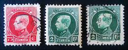 ALBERT 1ER  1927 - TYPE HOUYOUX - OBLITERES - YT 212 + 217 - 1922-1927 Houyoux