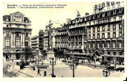 [DC2768] CPA - BELGIO - BRUXELLES - PLACE DE BROUCKERE - MONUMENT ANSPACH - Non Viaggiata - Old Postcard