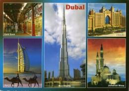 CP-DUBAI--multi-vues, Circulé En 2012  (beau Timbre Vautour) - Dubai
