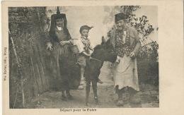 Enfant A Cheval Sur Ane Depart Pour La Foire Edit Ravier Bourg Bresse Kid Riding A Donkey Costume Sabots - Donkeys