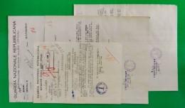D-IT RSI Varese 1944 Dossier Di 4 Doc. RSI GUARDIA NAZIONALE REPUBBLICANA Varese - Documents Historiques