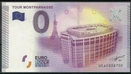 Billet Touristique 0 Euro 2015   La TOUR  MONTPARNASSE  Paris épuisé - Essais Privés / Non-officiels