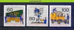 Mwm115 TRANSPORT TREIN VRACHTWAGEN POST COMMUNICATION TRAIN EISENBAHN DEUTSCHE BUNDESPOST BERLIN 1990 PF/MNH - Transportmiddelen