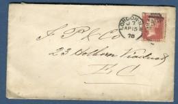 Grande Bretagne, Enveloppe De Londres 1878   Réf. 767 - 1840-1901 (Regina Victoria)