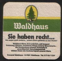 BIERDECKEL / BEER MAT / SOUS-BOCK : Waldhaus - Sous-bocks