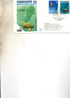FDC  SAINT MARIN EUROPA 1983  OCEANOGRAPHIE      N° YVERT  1074/5 SUPRBE 1983 - Lettres & Documents