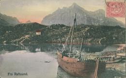 NO RAFTSUND / Fra Raftsund Et Un Bateau / CARTE COULEUR - Noruega