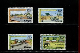 KENIA  POSTFRIS MINT NEVER HINGED POSTFRISCH EINDWANDFREI NEUF SANS CHARNIERE YVERT 91 92 93 94 - Kenya (1963-...)