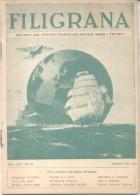 REVISTA DEL CENTRO FILATELICO BUENOS AIRES FILIGRANA MARZO DE 1954 42 PAGINAS TEMAS EXPOSICION FILATELICA METROPOLITANA - Tijdschriften