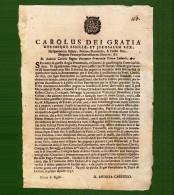 D-IT Regno Di Napoli E Di Sicilia Carlo Di Borbone 1735 Terra Di Lavoro - Documents Historiques