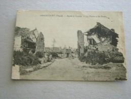 CARTE POSTALE Ancienne De ABANCOURT Nord 59 La Mairie Et Les Ecoles Après La Guerre - Autres Communes