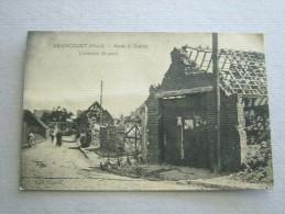 CARTE POSTALE Ancienne De ABANCOURT Nord 59 L'Intérieur Du Pays Après La Guerre - Autres Communes