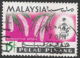 Penang (Malaysia). 1965-68 Orchids. 15c Used. SG 71 - Malaysia (1964-...)