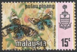 Penang (Malaysia). 1971 Butterflies. 15c Used. SG 80 - Malaysia (1964-...)
