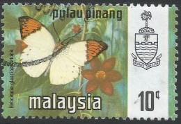 Penang (Malaysia). 1971 Butterflies. 10c Used. SG 79 - Malaysia (1964-...)