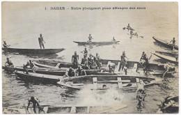 Dakar - Noirs Plongeant Pour Attraper Des Sous - Blacks Diving - Messageries Maritimes - Unused C1907 - Senegal