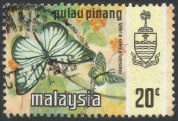 Penang (Malaysia). 1971 Butterflies. 20c Used. SG 81 - Malaysia (1964-...)