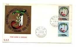 Fb709 - REPUBBLICA 1966 ,  SENZA  Timbro D'arrivo . A.F. ROMA . XX INDIPENDENZA - 6. 1946-.. Repubblica