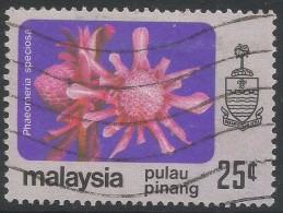 Penang (Malaysia). 1979 Flowers. 25c Used. SG 92 - Malaysia (1964-...)